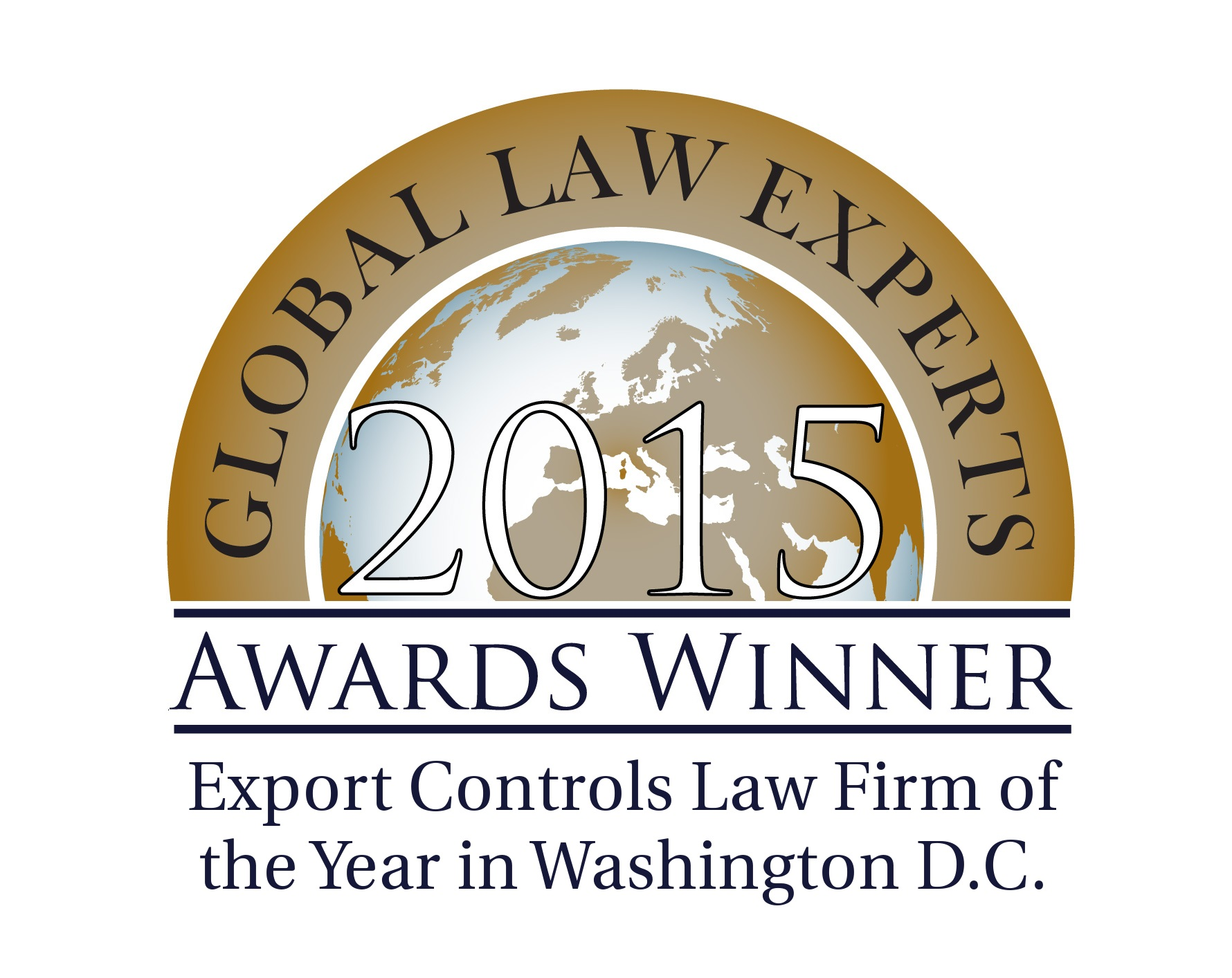 GLE AWARDS 2015 - Export Controls Law Firm of the Year